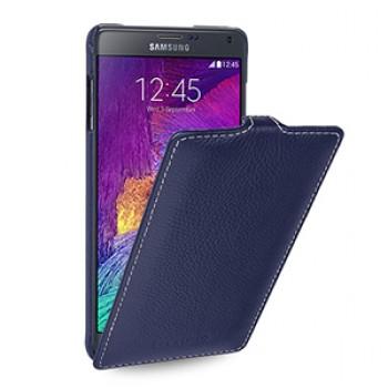 Кожаный чехол вертикальная книжка (нат. кожа) для Samsung Galaxy Note 4 7!New 22.10.2014