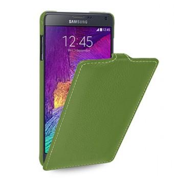 Кожаный чехол вертикальная книжка (нат. кожа) для Samsung Galaxy Note 4 8!New 22.10.2014