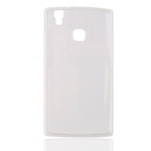 Силиконовый матовый полупрозрачный чехол для Doogee X5 Max Белый