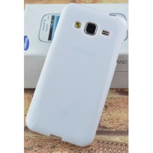 Силиконовый непрозрачный чехол для Samsung Galaxy J3 (2016) Белый