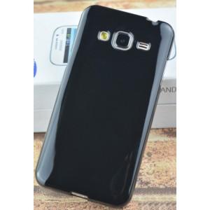 Силиконовый непрозрачный чехол для Samsung Galaxy J3 (2016) Черный