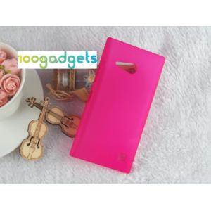 Пластиковый матовый металлик чехол для Nokia Lumia 730/735