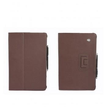 Чехол подставка с рамочной защитой серия Full Cover для Acer Iconia W700 Коричневый