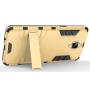 Противоударный двухкомпонентный силиконовый матовый непрозрачный чехол с поликарбонатными вставками экстрим защиты с встроенной ножкой-подставкой для OnePlus 3