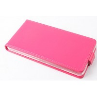 Чехол вертикальная книжка на пластиковой основе с магнитной застежкой для Huawei Honor 3x Розовый