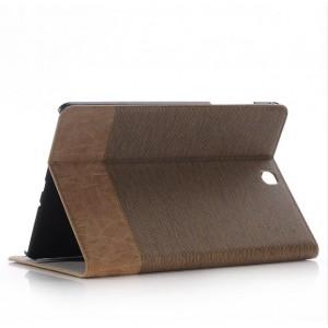 Текстурный чехол подставка с внутренними отсеками для Samsung Galaxy Tab A 9.7 Коричневый