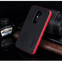 Двухкомпонентный чехол повышенной защиты с поликарбонатным бампером и силиконовой накладкой для LG Optimus G2 Красный