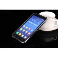 Металлический эрргономичный двухкомпонентный бампер для Huawei Honor 3x Серый