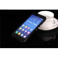 Металлический эрргономичный двухкомпонентный бампер для Huawei Honor 3x Черный