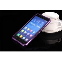 Металлический эрргономичный двухкомпонентный бампер для Huawei Honor 3x Фиолетовый