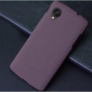 Пластиковый матовый чехол с повышенной шероховатостью для Google Nexus 5 Фиолетовый