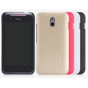 Пластиковый матовый нескользящий премиум чехол для HTC Desire 210