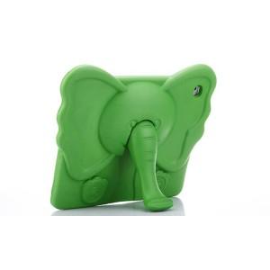 Ударостойкий детский силиконовый матовый гиппоаллергенный непрозрачный чехол с встроенной ножкой-подставкой для Ipad 2/3/4 Зеленый