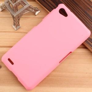 Пластиковый непрозрачный матовый чехол для Philips W6610 Xenium Розовый