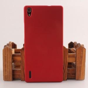 Пластиковый чехол для Huawei Ascend P7 Красный