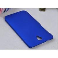 Пластиковый матовый металлик чехол для Alcatel One Touch Idol 2 Синий