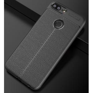 Силиконовый матовый непрозрачный дизайнерский фигурный чехол с текстурным покрытием Кожа для Huawei Honor 9 Lite