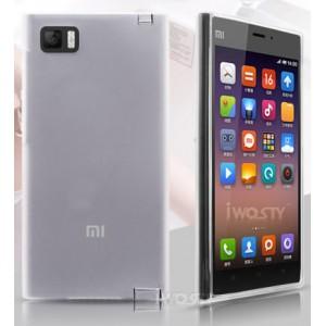 Силиконовый матовый полупрозрачный чехол для Xiaomi MI3