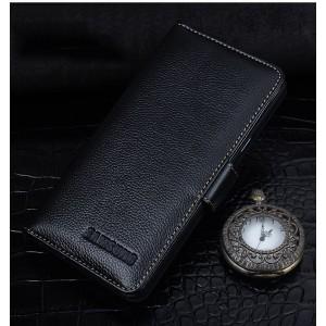 Кожаный чехол портмоне (нат. кожа) с магнитной защелкой для Samsung Galaxy J7 (2016)