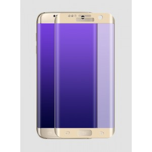 На плоскую и изогнутые поверхности экрана ультратонкое износоустойчивое сколостойкое олеофобное защитное стекло-пленка для Samsung Galaxy S7 Edge Бежевый