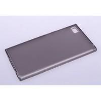 Силиконовый матовый полупрозрачный чехол для Xiaomi MI3 Черный