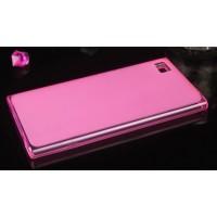 Силиконовый матовый полупрозрачный чехол для Xiaomi MI3 Розовый