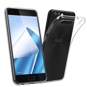 Силиконовый глянцевый транспарентный чехол для ASUS ZenFone 4 ZE554KL