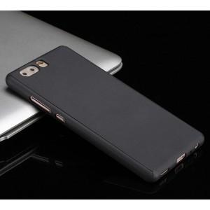 Пластиковый непрозрачный матовый сборный чехол с улучшенной защитой элементов корпуса для Huawei P10 Plus
