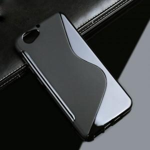 Силиконовый матовый полупрозрачный чехол с дизайнерской текстурой S для HTC One A9S