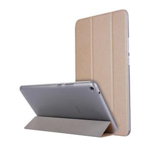 Сегментарный чехол книжка подставка текстура Золото на транспарентной поликарбонатной основе для Huawei MediaPad T3 8 Бежевый