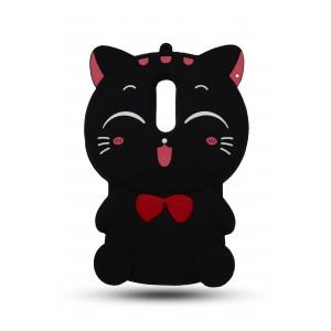 Силиконовый матовый непрозрачный дизайнерский фигурный чехол для Xiaomi RedMi Note 4 Черный