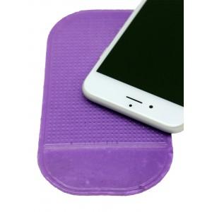 Нескользящий автомобильный силиконовый коврик для гаджетов 14х8 см Фиолетовый