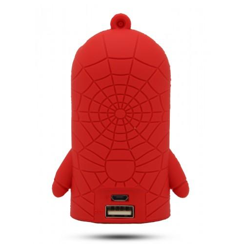 Ультрапортативное зарядное устройство-брелок Супергерой 8800 mAh Красный