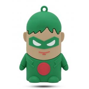 Ультрапортативное зарядное устройство-брелок Супергерой 8800 mAh Зеленый