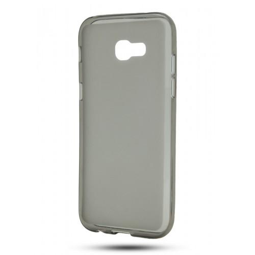 Силиконовый матовый полупрозрачный чехол для Samsung Galaxy A5 (2017) Серый