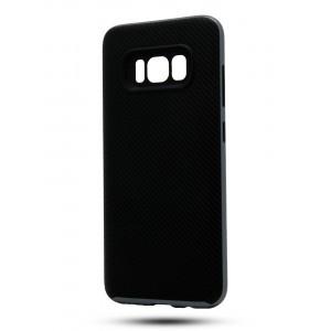 Противоударный двухкомпонентный силиконовый матовый непрозрачный чехол с поликарбонатными вставками экстрим защиты для Samsung Galaxy S8