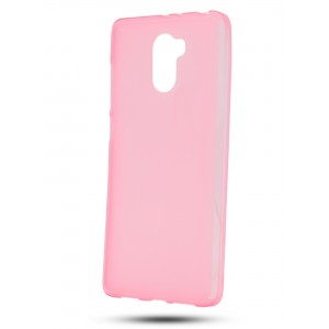 Силиконовый матовый полупрозрачный чехол для Xiaomi RedMi 4 Розовый