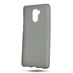 Силиконовый матовый полупрозрачный чехол для Xiaomi RedMi 4 Черный