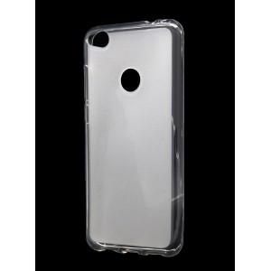 Силиконовый матовый полупрозрачный чехол для Huawei Honor 8 Lite Белый