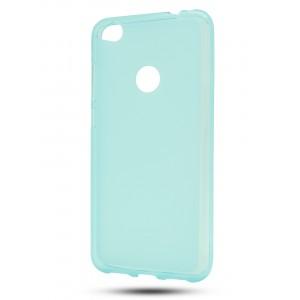 Силиконовый матовый полупрозрачный чехол для Huawei Honor 8 Lite Голубой