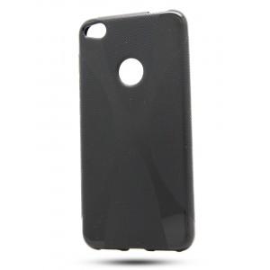Силиконовый матовый полупрозрачный чехол с дизайнерской текстурой X для Huawei Honor 8 Lite Черный