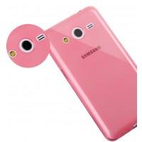 Ультратонкий полупрозрачный чехол для Samsung Galaxy Core 2 Красный