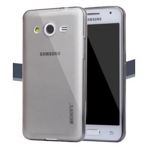 Ультратонкий полупрозрачный чехол для Samsung Galaxy Core 2 Черный