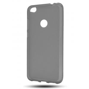 Силиконовый матовый полупрозрачный чехол для Huawei Honor 8 Lite Черный