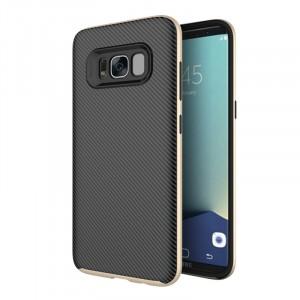 Противоударный двухкомпонентный силиконовый матовый непрозрачный чехол с поликарбонатными вставками экстрим защиты для Samsung Galaxy S8 Plus