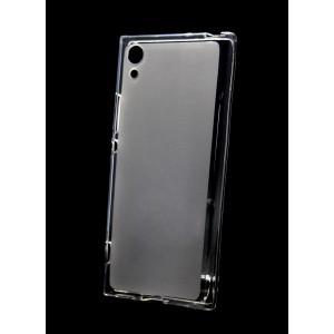 Силиконовый матовый полупрозрачный чехол для Sony Xperia XA1 Белый