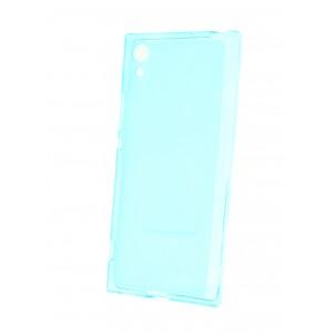 Силиконовый матовый полупрозрачный чехол для Sony Xperia XA1 Голубой