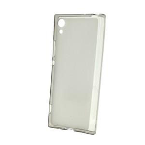 Силиконовый матовый полупрозрачный чехол для Sony Xperia XA1 Черный