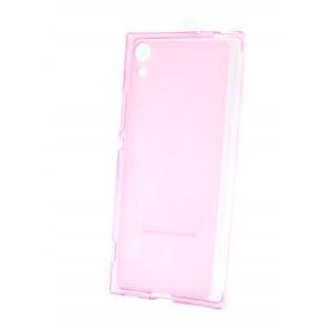 Силиконовый матовый полупрозрачный чехол для Sony Xperia XA1 Розовый