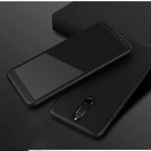 Пластиковый непрозрачный матовый чехол сборного типа с улучшенной защитой элементов корпуса для Huawei Nova 2i Черный